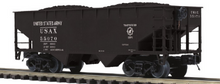 Pre order for MTH Premier 6 car set of US Army (USAX)  2 bay offset  hopper cars,  3 rail