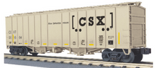 Pre-order for MTH Railking scale CSX  2 bay airslide covered hopper car, 3 rail