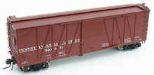 Atlas O PRR Lines 40' single sheathed box car, 3 or 2 rail
