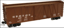 Atlas O PRR (early) 40' single sheathed box car, 3 or 2 rail