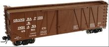Atlas O GR&I 40' single sheathed box car, 3 or 2 rail