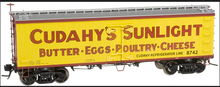 Atlas O Cudahy Sunlight  36' reefer, 3 rail or 2 rail