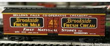 Atlas O Special run Brookside Creamery  40' wood reefer, 3 rail or 2 rail