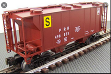 Weaver special run PRR Engine Sand Service (tuscan) 34' PS-2 covered hopper, 2 rail or 3 rail