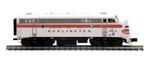 MTH Premier  CB&Q  F-7A  diesel, 2 rail, w/Sound, exhaust, DCC,. proto 3.0
