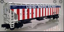 Atlas O UP  special run (r/w/b) PS4750  covered hopper, 3 rail or 2 rail