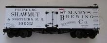 Atlas O Special run St Marys Brewery (PS&N) 36' wood reefer, 3 rail or 2 rail