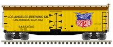 Pre-order for Atlas O  Los Angeles Brewing  40' Wood Reefer, 3 rail or 2 rail