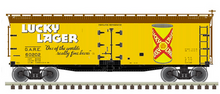 Pre-order for Atlas O  Lucky Lager  40' Wood Reefer, 3 rail or 2 rail