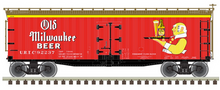 Pre-order for Atlas O  Old Milwaukee  Beer  40' Wood Reefer, 3 rail or 2 rail