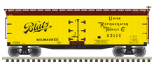 Pre-order for Atlas O  Blatz (version 3)  40' Wood Reefer, 3 rail or 2 rail