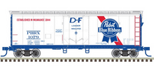 Pre-order for Atlas O Pabst 40' plug door (bunkerless) reefer, 3 rail or 2 rail