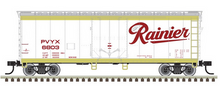 Pre-order for Atlas O Rainier 40' plug door (bunkerless) reefer, 3 rail or 2 rail