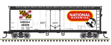 Pre-order for Atlas O National Bohemian  Beer 40' plug door (bunkerless) reefer, 3 rail or 2 rail