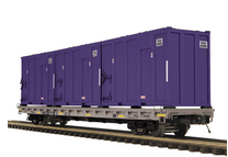 Pre order for MTH Premier Corvanta Solutions  60' Flat Car w/trash containers, 3 rail