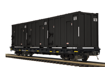 Pre-order for MTH Premier Regus Industries  60' Flat Car w/trash containers, 3 rail