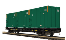 Pre-order for MTH Premier USA Waste  Industries  60' Flat Car w/trash containers, 3 rail