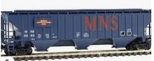 Weaver MNS  50' PS-2CD (4740) covered hopper, 2 rail  or 3 rail