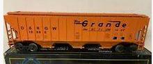 Weaver Rio Grande  50' PS-2CD (4740) covered hopper, 2 rail  or 3 rail