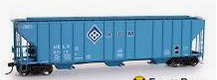 Weaver ADM (blue)  50' PS-2CD (4740) covered hopper, 2 rail  or 3 rail