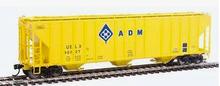 Weaver ADM (orange)  50' PS-2CD (4740) covered hopper, 2 rail  or 3 rail