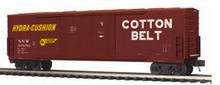 MTH Premier Cotton Belt (SSW) 50' Double Plug Door Box car, 3 rail