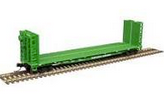 Weaver BN  50' bulkhead flat car, 3 rail or 2 rail