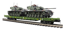 Pre-order for MTH Premier US army flat car with 2 M60 tanks, 3 rail