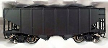 Atlas O Undecorated (flat ends)  Diecast  2 Bay Fishbelly Hopper, 3 rail or 2 rail
