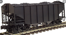 Atlas O Undecorated (peaked ends)  Diecast  2 Bay Fishbelly Hopper, 3 rail or 2 rail