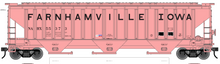 Pre-order for Atlas O  PDT exclusive Farnhamville, IA    PS4750 Covered Hopper car