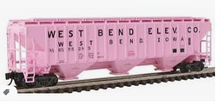 Pre-order for Atlas O  PDT exclusive Set of 6 Pink Grain elevator PS4750 Covered Hopper car