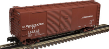 Atlas O  IC (automobile) 1937 style AAR 40' steel Double Door box car, 3 rail or 2 rail