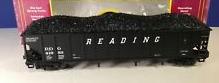MTH Premier Reading 4-bay 40' Ribbed Side Hopper Car, 3 rail