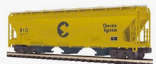 MTH Premier Chessie (B&O) 3-Bay Centerflow Covered Hopper, 3 rail