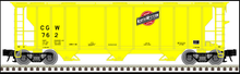 Pre-order for Atlas O CNW/CGW (yellow) 40' 3 Bay PS-2 Covered Hopper