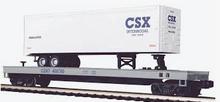MTH Premier CSX Flat Car with 40'  CSX Trailer, 3 rail