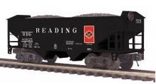 MTH Premier Reading 2-Bay Offset Hopper w/Coal Load, 3 rail
