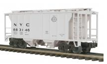 MTH Premier NYC (gray) Ps-2 Covered Hopper, 3 rail