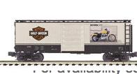 MTH Premier Harley Davidson 40' Box Car (2005 XL-883C on side) , 3 rail