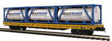 MTH Premier UP 60' Flat Car w/3 ISO containers, 3 rail