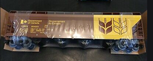 Weaver special run Gov't of Canada (brown)  50' centerflow covered hopper, 2 rail or 3 rail