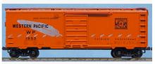 Weaver special run WP (orange/silver feather) 40' PS-1 box car, 3 rail or 2 rail
