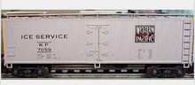 Crown (Weaver) Special run WP Ice Service 40' Reefer, 3 rail or 2 rail