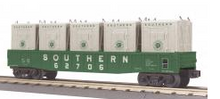 MTH Railking Southern Gondola Car with LCL containers, 3 rail