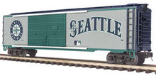 MTH Premier Seattle Mariners 50' Double Door Box car, 3 rail