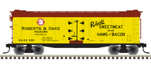 Pre-order for Atlas O  Roberts & Oake 40' rebuilt Wood Reefer, 3 rail or 2 rail