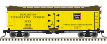 Pre-order for Atlas O  Burlington 40' rebuilt Wood Reefer, 3 rail or 2 rail