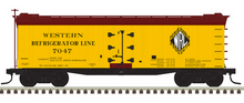 Pre-order for Atlas O  Western Frig Lines 40' rebuilt Wood Reefer, 3 rail or 2 rail