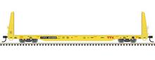 CPre-order for Atlas O TTX 62' (forward thinking) Bulkhead Flat car, 3 rail or 2 rail